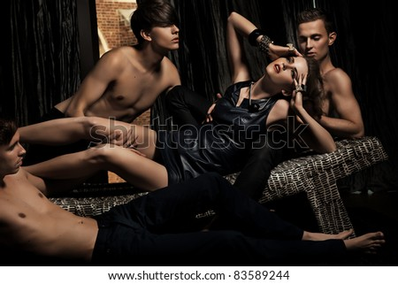 Sexy group of people - stock photo