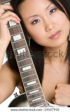 Sexy Guitar Woman - stock photo