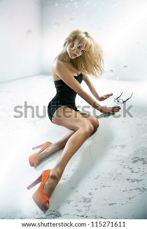 Sexy lade wearing high heels - stock photo