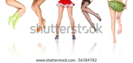 sexy legs - stock photo