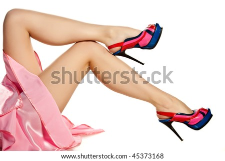 Sexy legs in shoes - stock photo