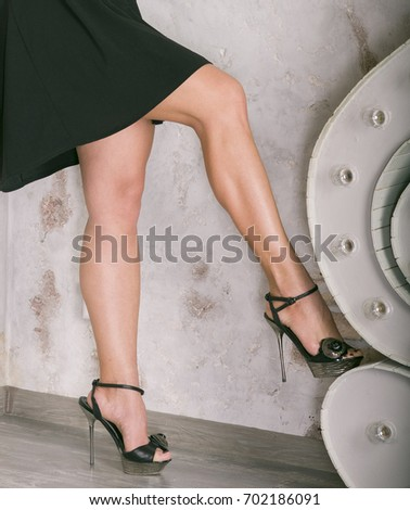 Sexy legs  Woman with beautiful legs on heels  Appetizing female forms  without a face. Without dress female Stock Images  Royalty Free Images   Vectors