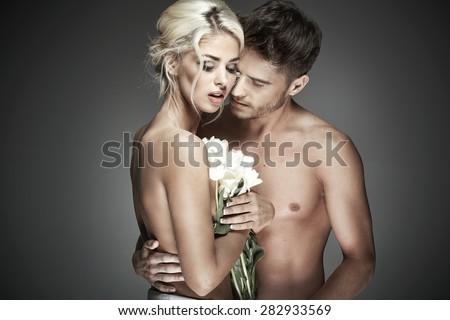 Sexy loving couple - stock photo