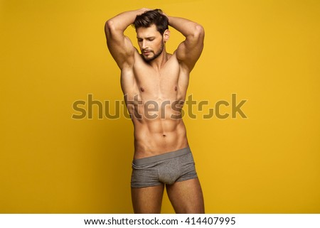Sexy Male Model In Underwear