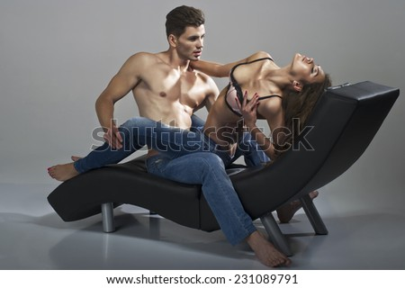 Sexy Man And Woman  - stock photo