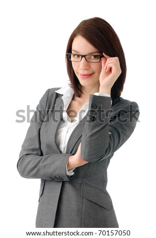 Sexy manager - stock photo