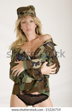 sexy military woman