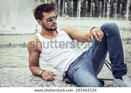 Sexy Model Aviator Sunglasses Stock Photo 285462524