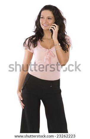 sexy model wearing business wear on white background