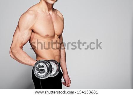 Sexy muscular ma - stock photo