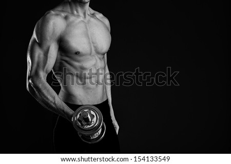 Sexy muscular man - stock photo