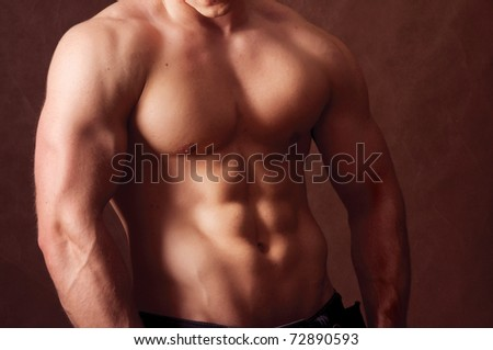 Sexy muscular man - stock photo