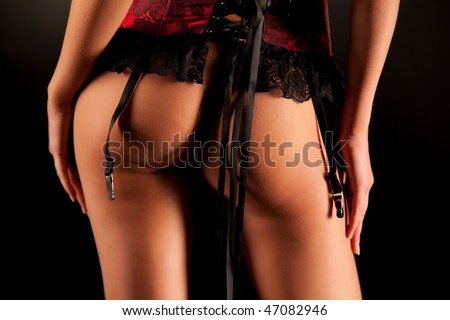 Sexy necked buttocks, close up shot - stock photo