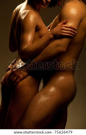 sexy passion between two lovers - stock photo