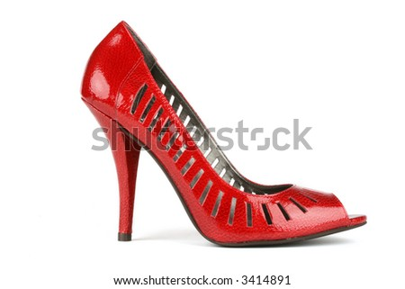 sexy red high heels - stock photo