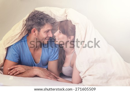 sexy romantic lovers - stock photo