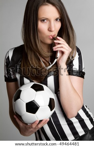 Sexy Soccer Referee - stock photo