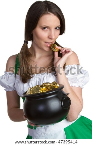 Sexy St Patricks Girl - stock photo