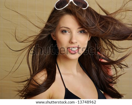 Sexy summer girl - stock photo