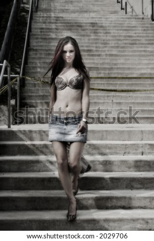 sexy walk - stock photo