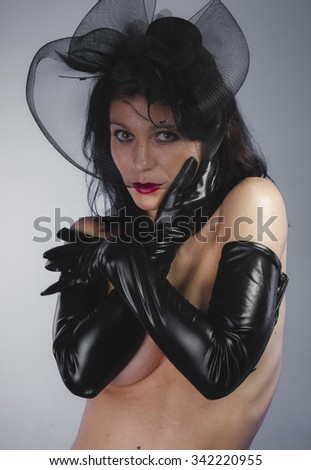 Sexy, widow with sensual look, dangerous woman