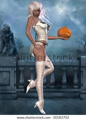 Sexy Witch - stock photo