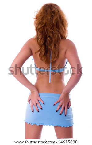 Sexy woman ass isolated on white background
