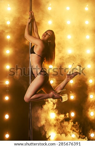 Sexy woman dancing. - stock photo