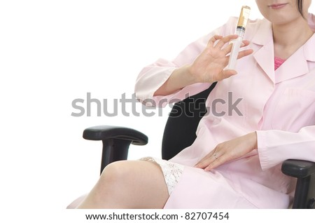 Sexy woman doctor - stock photo
