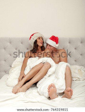 rene-naked-gorl-santa-hat-stretched-pounded