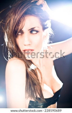 Sexy woman headshot - stock photo