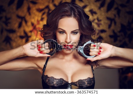 Bedroom sensual bondage