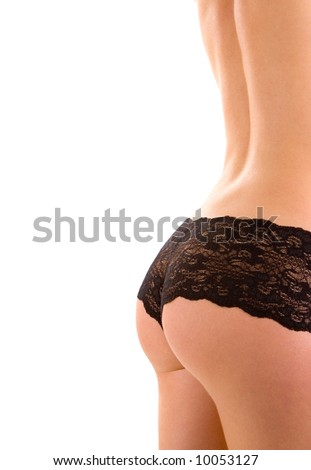 Sexy woman in lingerie on the white background - stock photo