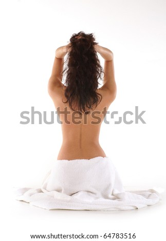 Sexy woman in spa - stock photo
