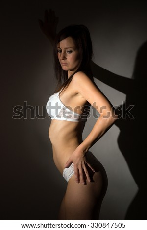 sexy woman in white underwear / sexy Woman - stock photo