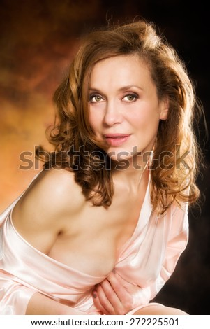 sexy woman portait in lingerie  - stock photo