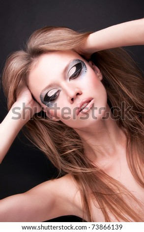 sexy woman with beautiful makeup