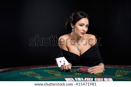 Casino woman casino gambling poker slots roulette
