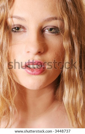 Sexy young blond woman portrait