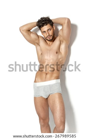 Sexy young men - stock photo