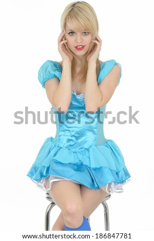 Sexy Young Pin Up Model - stock photo