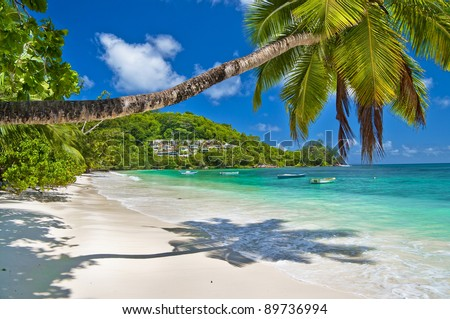 Seychelles - paradise holidays - stock photo