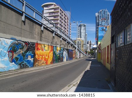 Seymour street graffitti - stock photo