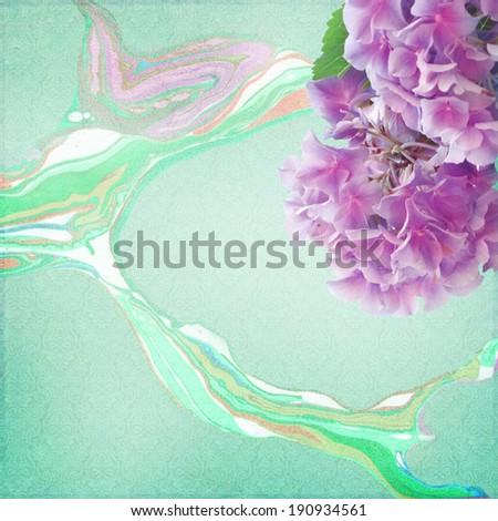 Shabby Chic Background with hydrangea  - stock photo