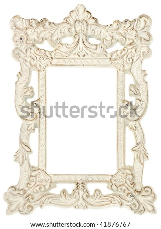 Shabby Chic Picture Frame - stock photo
