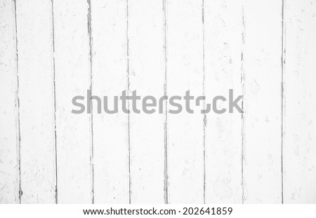 Shabby chic style: old wood background in white color - patterned and rustic. - stock photo