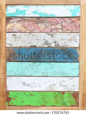 shabby  different varicolored Wood Background - stock photo