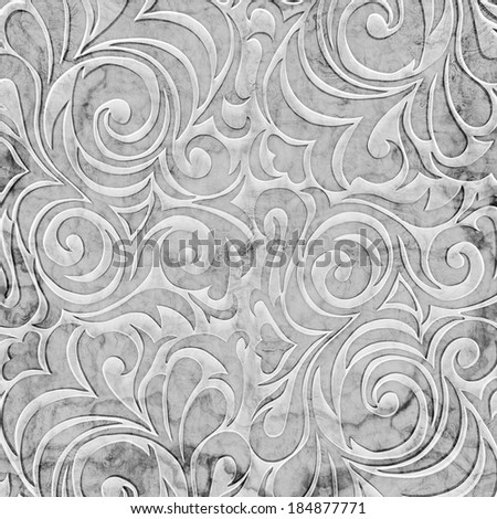 Shabby paper with ornament - stock photo