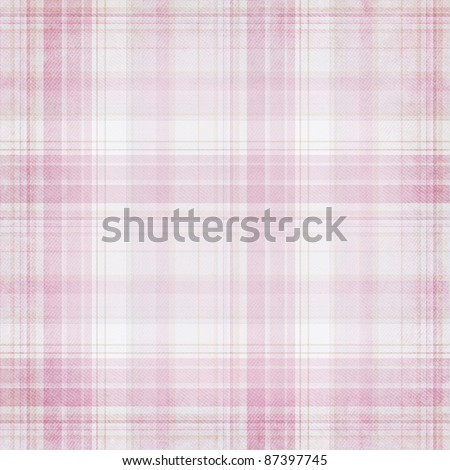 Shabby textile plaid  Background with colorful pink and white stripes - stock photo