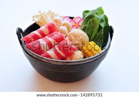 Shabu-shabu - stock photo